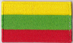 Lithuania Embroidered Flag Patch, style 04.